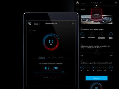Mercedes Global Training black inerfacedesign ipad automotive mercedes app ux ui