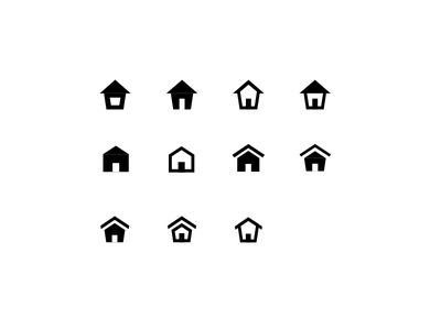 Searching for the right shape iconography detail home icon