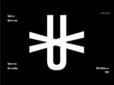 We're hiring || Senior UX Designer typo typeface munich designer ux interone jobs hiring