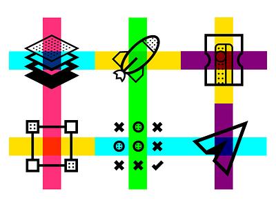 Icons Design Process symbol ui color process design illustration icons