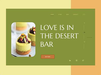 THE DESERT BAR — Landing Page typography app ux ui design
