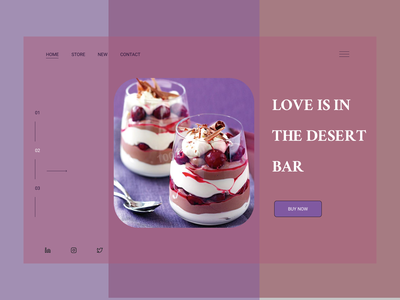 THE DESERT BAR — Landing Page app typography ux ui design