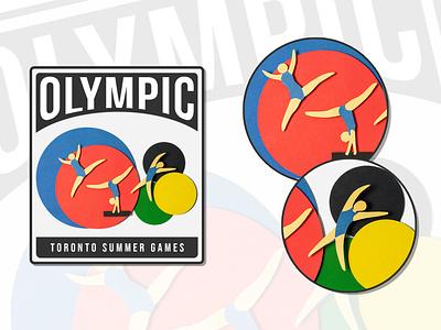 Dribbble Weekly Warm-Up | Summer Olympic Sport branding ui illustration logo graphic design dribbbleweeklywarmup dribbblechallenge dribbble design challenge