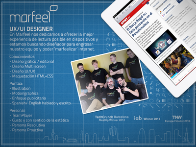 Searching for a UI/UX Designer ui ux barcelona startup