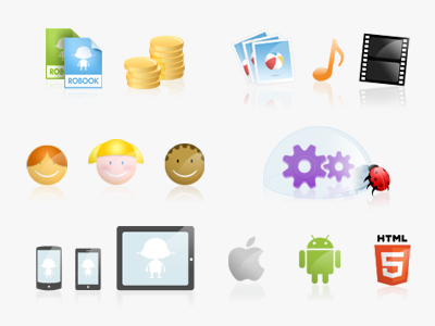 Icons for Storybuilder site icons illustrations