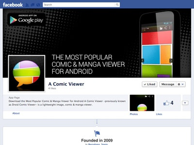 A Comic Viewer Facebook Page facebook app cover image