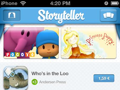 Storyteller for iPhone ui iphone app storefront