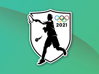 Olympic Tennis Badge (Weekly Warm-Up) logo olympics tennis badge dribbbleweeklywarmup