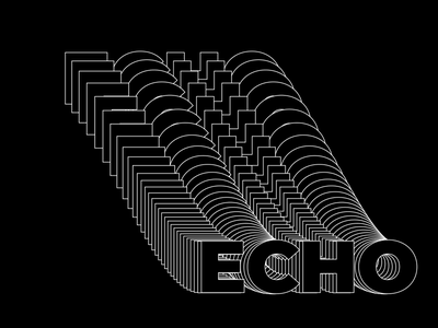 Typography tutorial stroke echo text typography after effects motion gif animation