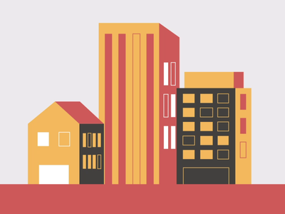 Fake 3D Building motiongraphics motion graphic fake 3d illustration tutorial after effects gif motion animation