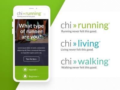 ChiRunning Rebranding & Redesign web ux design branding