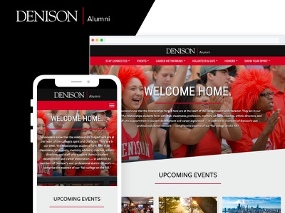 Denison University Alumni Website ux web development design