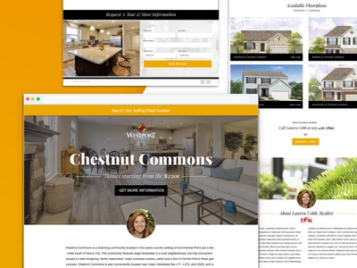 Realtor Landing page Design ux typography branding web design