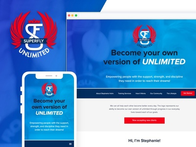 SuperFly Unlimited Personal Training logo web development branding design