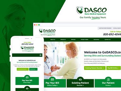 Dasco Home Medical Equipment ux development web design