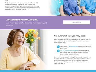 Comfort Keepers brand exporation development web design