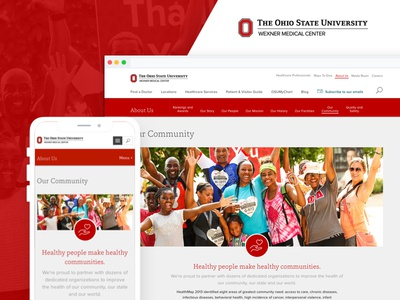 The Ohio State University Wexner Medical Center - Our Community ux icon web design