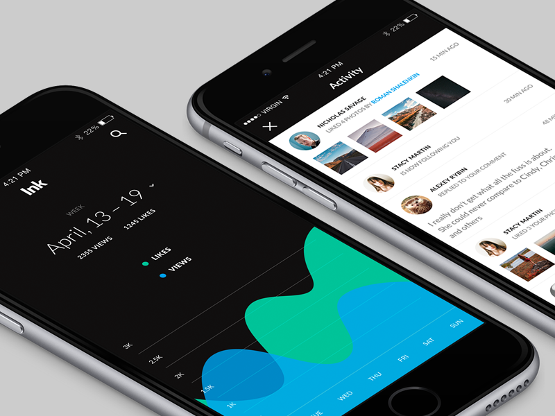 Ink UI: 120+ High-Quality iOS Screens market iphone ios elements components sketch psd ui kit ui ink