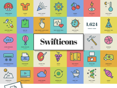 Swifticons - 1,624 High Quality Icons psd freebie sketch illustrator photoshop ui icon pack illustration sketch icons vector icons icons