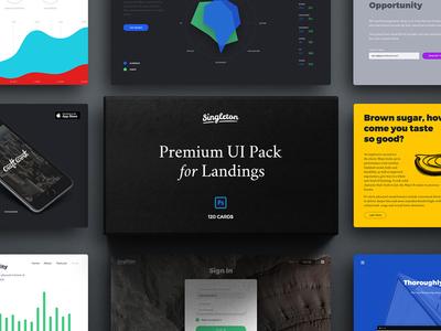 Singleton: Huge UI Pack for Landings silk ui ui kit psd sketch ui pack user interface