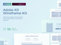 Collector Wireframe Web Kit for Adobe XD xd adobe xd wireframe ui kit ui