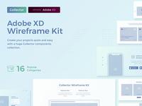 Collector Wireframe Web Kit for Adobe XD xd adobe xd wireframe ui kit ui
