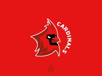 Sport mascot Cardinals logo red bird cardinal mascot cybersport sport modern emblem logotype logo illustration graphic design branding