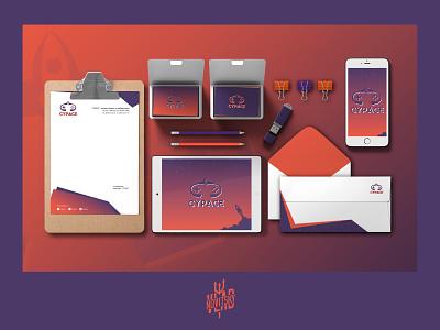 Сorporate identity of cybersport logo rocket cybersport corporate identity identity form business card logotype logo graphic design branding
