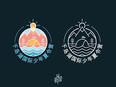 The logo for the Chinese camp minimalist camp china symbol emblem logotype logo graphic design branding