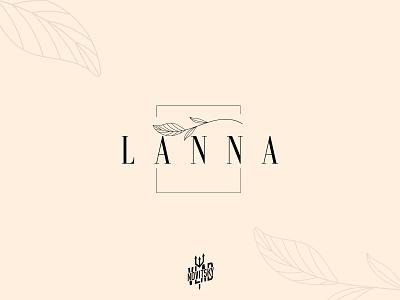 Logo for natural cosmetics LANNA beauty minimalist simple cosmetic natural logotype logo branding graphic design