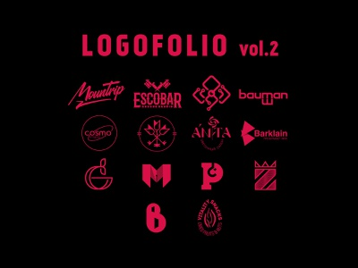 Logofolio vol.2 behance project visual logofolio logotype logo branding graphic design