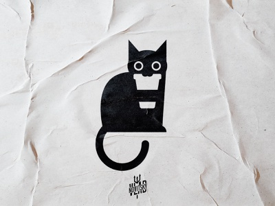 The Black coffee cat corporate identity black logo for sale sale coffee cat modern illustration logotype logo branding graphic design