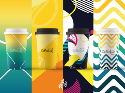 Coffee shop glass patterns summer coffee shop visual identity pattern glass coffee design modern illustration branding graphic design