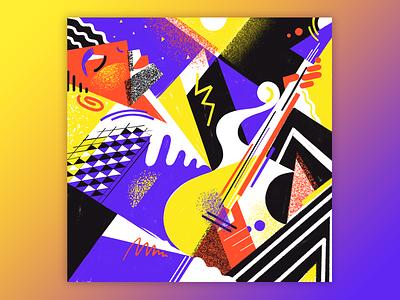 Prince ~ Cream portrait rock purple rain prince guitar music neon geometric abstract 80s graphic art illustration