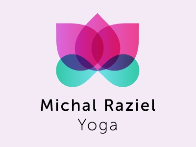 Logo - Michal Raziel Yoga flower yoga lotus graphic design branding logo