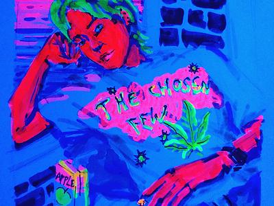 The Chosen Few sketchbook dusk light gender raw markers chill 420 neon art illustration