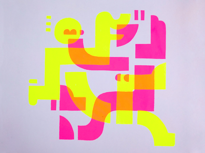 You make me smile :) design bright pink screenprint print smile happy dance light 80s abstract geometric graphic neon art illustration