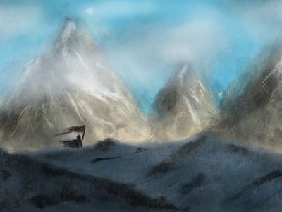 Henry snow mountains design fun tutorial painting digital art concept