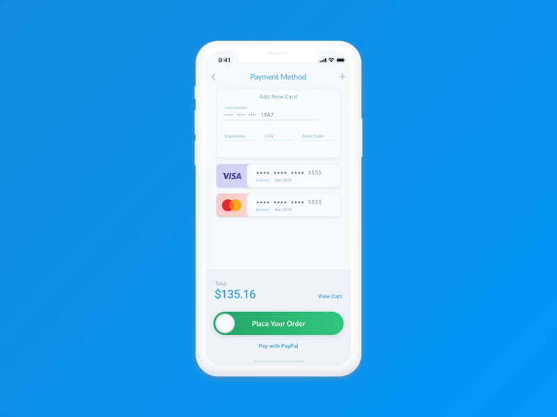 002_Credit Card Checkout credit card checkout checkout page credit card iphone x mobile ux interface figma daily ui 002 daily ui daily 100 challenge daily 100 daily ui design