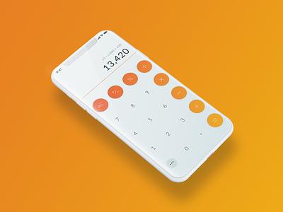 004_Calculator daily ui 004 ui pack fun design simple clean interface ux iphonex calculator simple smart phone