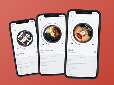 009_Music Player music player music mobile app mobile app design interface iphone x mobile daily ui 009 fun ux ui