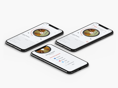 010_Social Share app player music mobile daily ui 010 fun iphone x interface design ux ui