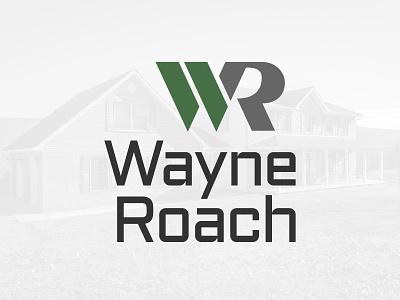 Wayne Roach Logo contractor general contractor branding logo design logo