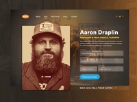Daily UI Challenge - Landing Page (Aaron Draplin) ui design ux design user experience user interface web aaron draplin draplin app uiux ux ui