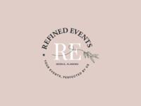 Refined Events 2.0 planning event minimal flat icon branding vector logo design