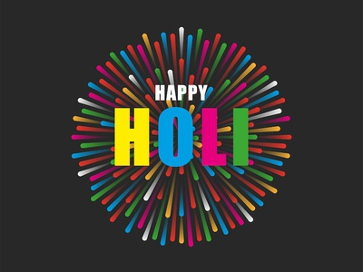 Happy Holi card design design poster art logo design emblem sticker design indian culture happy holi illustration card design fest love festival indian festival indian greeting card vibrant colors fireworks holi