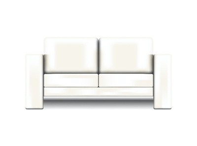 Milky white sofa vector illustration vector illustration design realistic mockup isolated 3d vector 3d modeling realistic vector white sofa divan interior element realistic sofa realistic drawing furniture design furniture interior design sofa milky