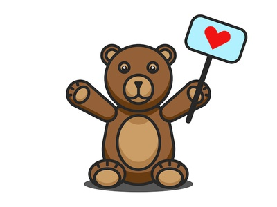 Teddy bear funny cartoon character design brown illustration animal art toy vector illustration childrens illustration heart like heart like funny character bear animal illustration cartoon illustration cartoon character toy bear teddy bear teddybear