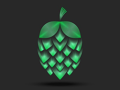 Hop cone linear Illustration linear emblem logo design vector brewery logo beer logo beer label logo design flower illustration flower logo floral design floral art hop cone cone hop