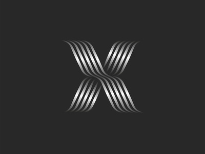 Letter X logo monogram emblem typography letter smooth lines lines stripped cross abc letter logo design letter logo gradient logo lineart line art x monogram x letter logo x logo x logo x letter x